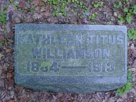 WILLIAMSON, KATHLEEN - Meigs County, Ohio | KATHLEEN WILLIAMSON - Ohio Gravestone Photos