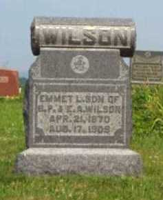 WILSON, EMMET L. - Meigs County, Ohio | EMMET L. WILSON - Ohio Gravestone Photos