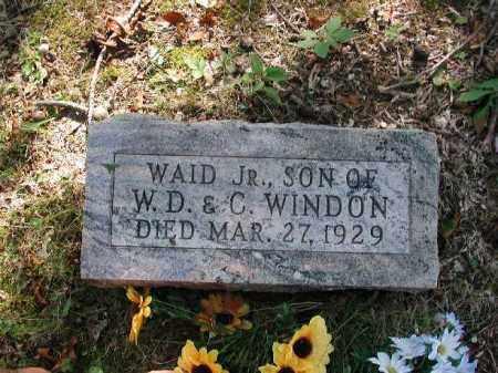 WINDON, WAID JR. - Meigs County, Ohio   WAID JR. WINDON - Ohio Gravestone Photos