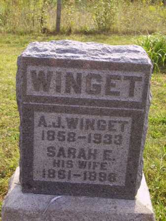 CUCKLER WINGET, SARAH ELIZABETH - Meigs County, Ohio | SARAH ELIZABETH CUCKLER WINGET - Ohio Gravestone Photos