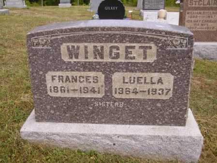 WINGET, FRANCES - Meigs County, Ohio | FRANCES WINGET - Ohio Gravestone Photos
