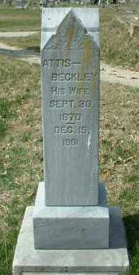 BECKLEY WINN, ATTIS - Meigs County, Ohio | ATTIS BECKLEY WINN - Ohio Gravestone Photos