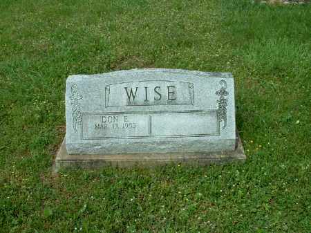 WISE, DON E. - Meigs County, Ohio | DON E. WISE - Ohio Gravestone Photos