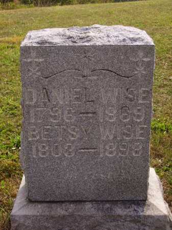 WISE, DANIEL - Meigs County, Ohio | DANIEL WISE - Ohio Gravestone Photos