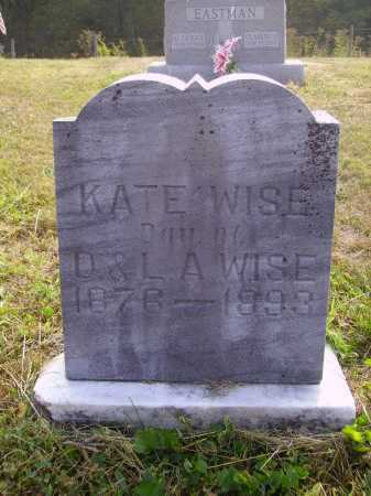 WISE, KATE - Meigs County, Ohio | KATE WISE - Ohio Gravestone Photos