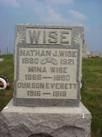 CHASE WISE, MINA - Meigs County, Ohio | MINA CHASE WISE - Ohio Gravestone Photos
