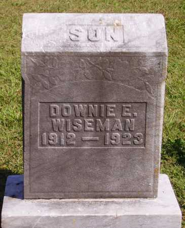 WISEMAN, DOWNIE EVERETT - Meigs County, Ohio   DOWNIE EVERETT WISEMAN - Ohio Gravestone Photos