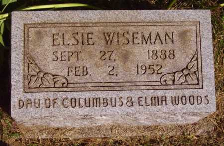 WOODS WISEMAN, ELSIE - Meigs County, Ohio | ELSIE WOODS WISEMAN - Ohio Gravestone Photos