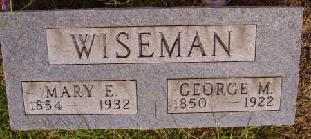 WISEMAN, MARY E. - Meigs County, Ohio | MARY E. WISEMAN - Ohio Gravestone Photos