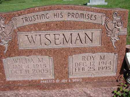 WISEMAN, ROY M - Meigs County, Ohio | ROY M WISEMAN - Ohio Gravestone Photos
