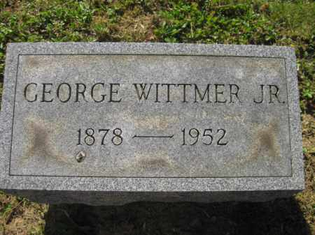 WITTMER, JR, GEORGE - Meigs County, Ohio | GEORGE WITTMER, JR - Ohio Gravestone Photos