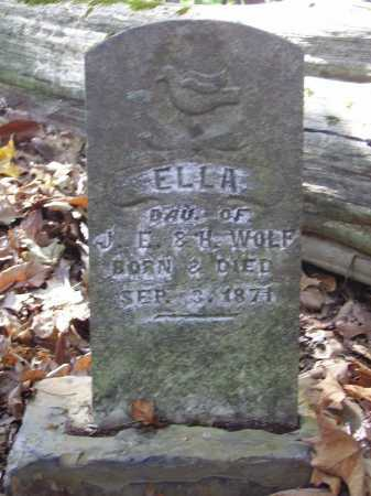 WOLF, ELLA - Meigs County, Ohio | ELLA WOLF - Ohio Gravestone Photos