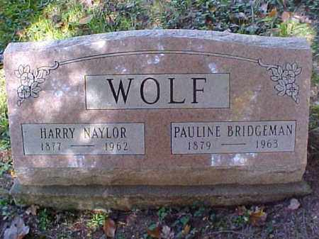 BRIDGEMAN WOLF, PAULINE - Meigs County, Ohio | PAULINE BRIDGEMAN WOLF - Ohio Gravestone Photos