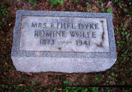 DYKE-ROMINE WOLFE, ETHEL - Meigs County, Ohio | ETHEL DYKE-ROMINE WOLFE - Ohio Gravestone Photos