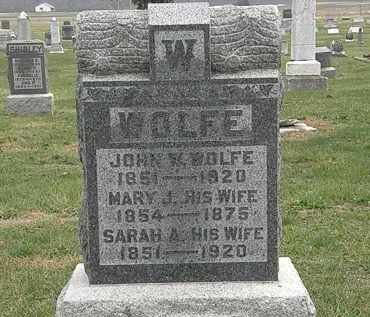 WOLFE, MARY J. - Meigs County, Ohio | MARY J. WOLFE - Ohio Gravestone Photos