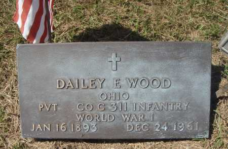 WOOD, DAILEY E. - MILITARY CLOSE VIEW - Meigs County, Ohio | DAILEY E. - MILITARY CLOSE VIEW WOOD - Ohio Gravestone Photos