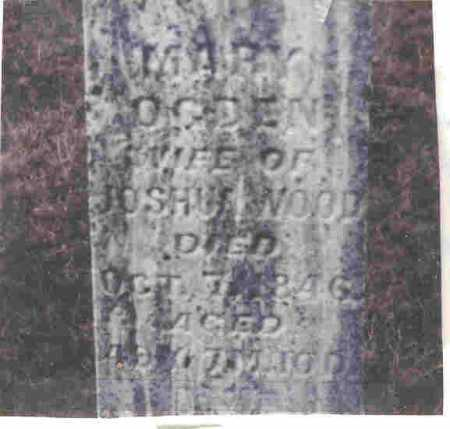 OGDIN WOOD, MARY - Meigs County, Ohio | MARY OGDIN WOOD - Ohio Gravestone Photos