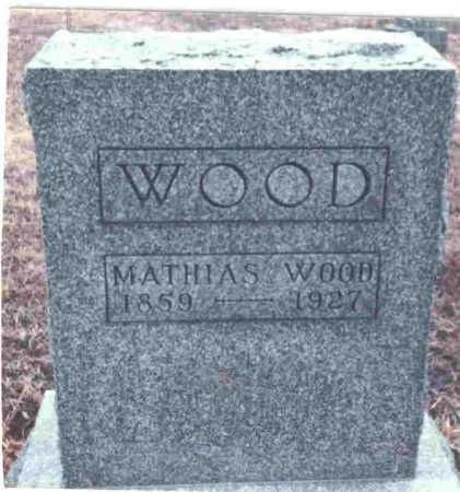 WOOD, MATHIAS - Meigs County, Ohio | MATHIAS WOOD - Ohio Gravestone Photos