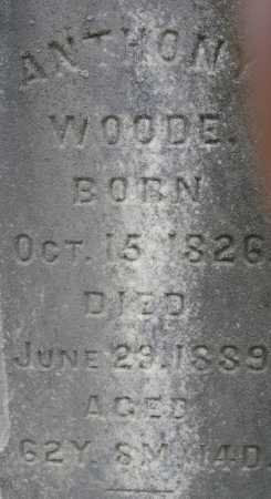 WOODE, ANTHONY - Meigs County, Ohio | ANTHONY WOODE - Ohio Gravestone Photos