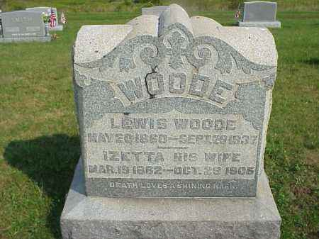 WOODE, LEWIS - Meigs County, Ohio | LEWIS WOODE - Ohio Gravestone Photos