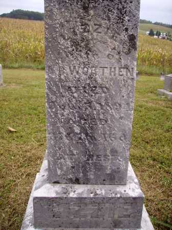 WORTHON, LIZZIE - Meigs County, Ohio | LIZZIE WORTHON - Ohio Gravestone Photos