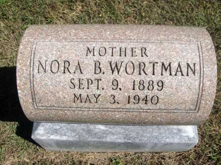 WORTMAN, NORA B. - Meigs County, Ohio | NORA B. WORTMAN - Ohio Gravestone Photos