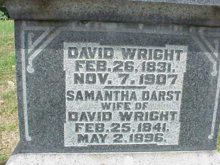 WRIGHT, DAVID - Meigs County, Ohio | DAVID WRIGHT - Ohio Gravestone Photos