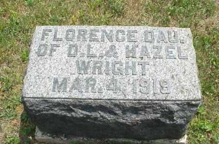 WRIGHT, FLORENCE - Meigs County, Ohio | FLORENCE WRIGHT - Ohio Gravestone Photos