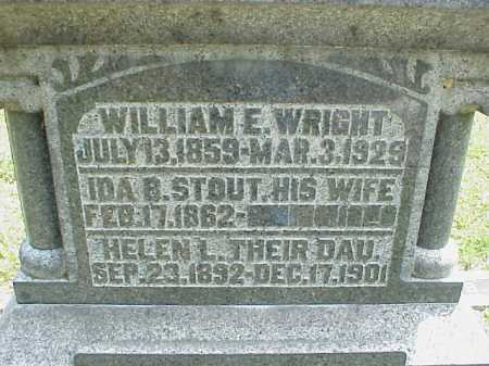 STOUT WRIGHT, IDA B. - Meigs County, Ohio | IDA B. STOUT WRIGHT - Ohio Gravestone Photos