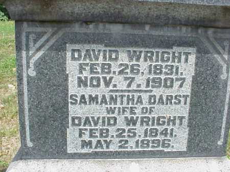 DARST WRIGHT, SAMANTHA - Meigs County, Ohio | SAMANTHA DARST WRIGHT - Ohio Gravestone Photos