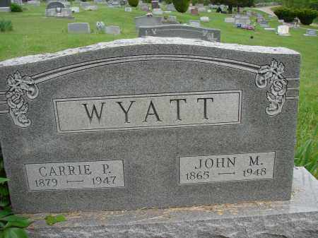 WYATT, JOHN M - Meigs County, Ohio | JOHN M WYATT - Ohio Gravestone Photos