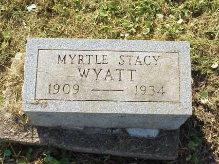 WYATT, MYRTLE STACY - Meigs County, Ohio | MYRTLE STACY WYATT - Ohio Gravestone Photos