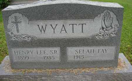 WYATT, SELAH FAY - Meigs County, Ohio | SELAH FAY WYATT - Ohio Gravestone Photos