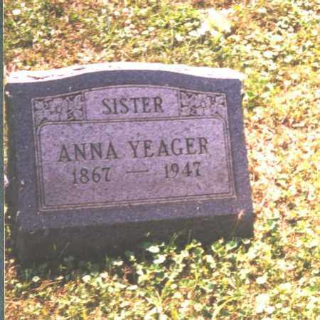 YEAGER, ANNA - Meigs County, Ohio | ANNA YEAGER - Ohio Gravestone Photos