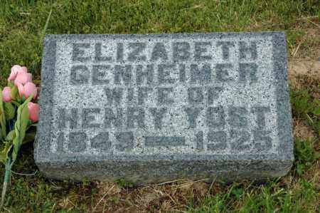 YOST, ELIZABETH - Meigs County, Ohio | ELIZABETH YOST - Ohio Gravestone Photos