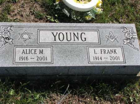 YOUNG, ALICE M. - Meigs County, Ohio | ALICE M. YOUNG - Ohio Gravestone Photos