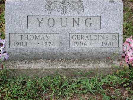 YOUNG, GERALDINE D. - Meigs County, Ohio | GERALDINE D. YOUNG - Ohio Gravestone Photos