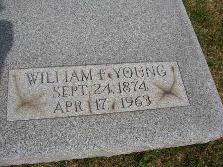 YOUNG, WILLIAM F - Meigs County, Ohio | WILLIAM F YOUNG - Ohio Gravestone Photos