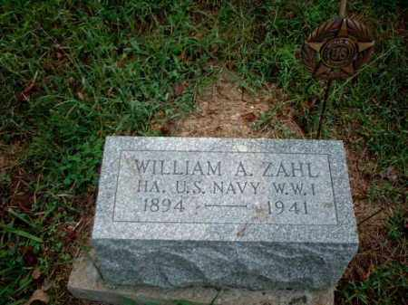 ZAHL, WILLIAM A. - Meigs County, Ohio | WILLIAM A. ZAHL - Ohio Gravestone Photos