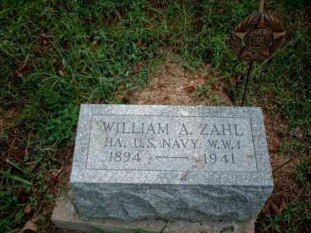 ZAHL, WILLIAM A. - Meigs County, Ohio | WILLIAM A. ZAHL - Ohio Gravestone Photos