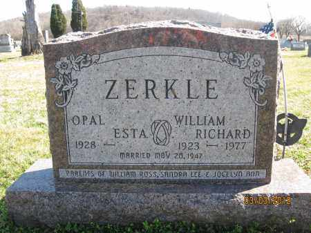 ZERKLE, WILLIAM RICHARD - Meigs County, Ohio | WILLIAM RICHARD ZERKLE - Ohio Gravestone Photos