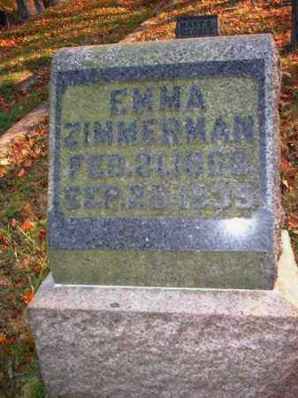 ZIMMERMAN, EMMA - Meigs County, Ohio | EMMA ZIMMERMAN - Ohio Gravestone Photos