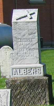 ALBERS, AUGUST - Mercer County, Ohio | AUGUST ALBERS - Ohio Gravestone Photos
