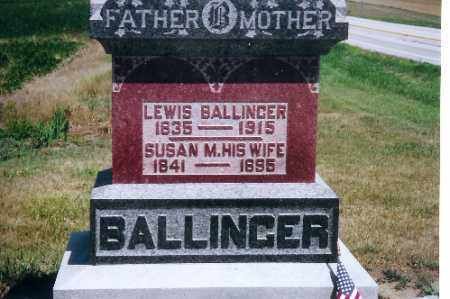 BALLINGER, SUSAN M. - Mercer County, Ohio | SUSAN M. BALLINGER - Ohio Gravestone Photos
