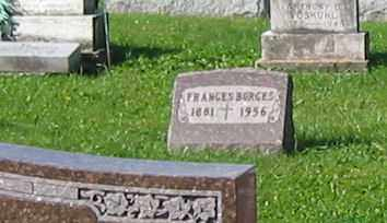 BORGES, FRANCES - Mercer County, Ohio | FRANCES BORGES - Ohio Gravestone Photos