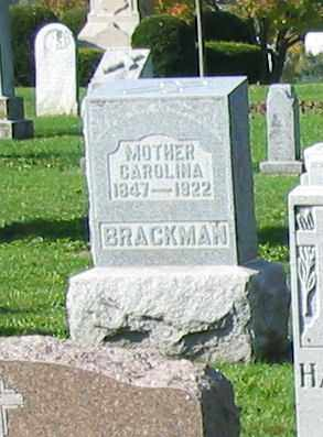 BRACKMAN, CAROLINA - Mercer County, Ohio | CAROLINA BRACKMAN - Ohio Gravestone Photos