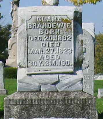 BRANDEWIE, CLARA - Mercer County, Ohio | CLARA BRANDEWIE - Ohio Gravestone Photos