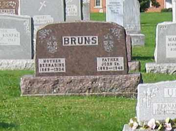 BRUNS, BERNADINE - Mercer County, Ohio | BERNADINE BRUNS - Ohio Gravestone Photos