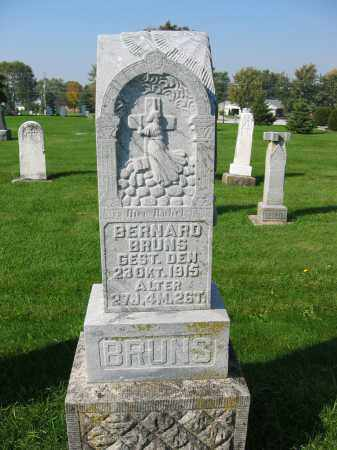 BRUNS, BERNARD - Mercer County, Ohio | BERNARD BRUNS - Ohio Gravestone Photos