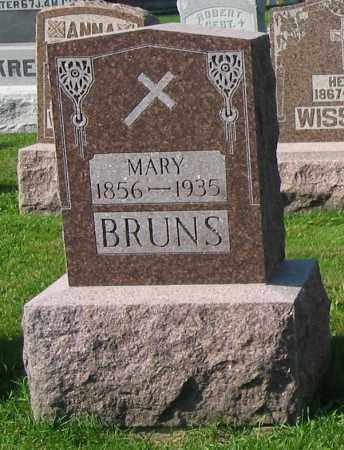 BRUNS, MARY - Mercer County, Ohio | MARY BRUNS - Ohio Gravestone Photos